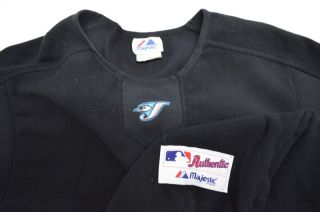 Majestic MLB Baseball Therma Sweater Shirt XL Extra Large Blue JS