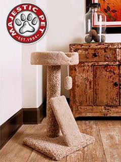 30 Cat Jungle Gym Sratcher Post Majestic Kitty Condo Tree Furniture