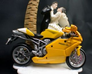 Diecast Bike Model Wedding Cake Topper Crotch Rocket Motorcycle
