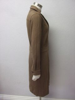 Jones New York $128  Brown Polished Cocktail Drama Shirt Dress