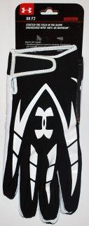 Armour Mens UA F2 Receiver HeaGear Fooball Gloves Black/Whie (2XL