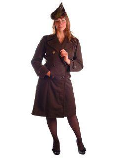 WW2 Army Nurse Corps Gabardine Wool Coat 1940s