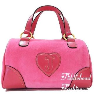 Juicy Couture Madge Bowler Tote Bag Crown Crest Daydreamer Satchel Hot
