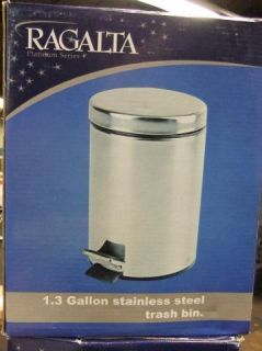Ragalta RTB 012 RTB012 1 2 Gallon Stainless Steel Trash Bin