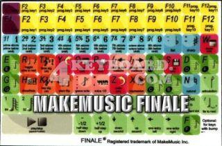 MakeMusic Finale keyboard stickers
