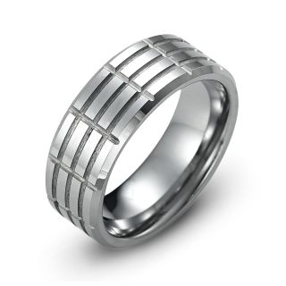 Tungsten Carbide Ring New Mens Wedding Band Size 8 12