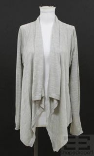 By Malene Birger Grey Silk Cream Belted Wrap Sweater Size Medium