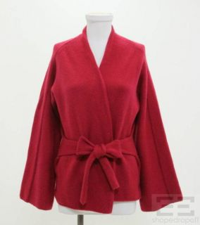 Malo Red Cashmere Belted Sweater Size 44