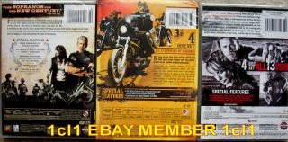 Sons of Anarchy Complete Season 1 2 3 Brand New 12 DVD Set 1 3 1st 2nd