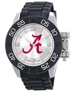 Game Time Watch, Mens University of Alabama Black Polyurethane Strap