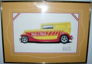 delivery TRUCK hot wheels MALT O MEAL print ART custom frame VHTF rare