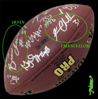 2012 Seattle Seahawks Team Signed NFL Football Pete Carroll Golden