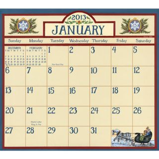 Bonnie White Folk Art 2013 Magnetic Mount Wall Calendar