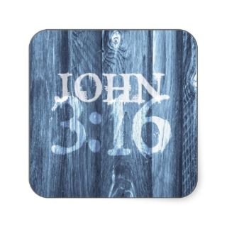 John 3:16For God So Loved the World Square Stickers