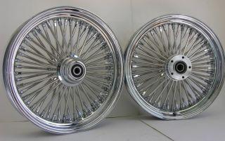 Chrome Mammoth Fat Spoke Wheels Harley 18x3 5 18x3 5