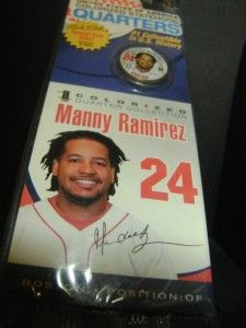 24 Manny Ramirez Baseball Signature Series Colorized Quarter 25 Cent