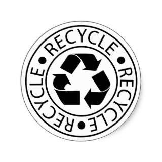 Recycle Black Logo Sticker