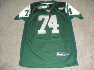 Nick Mangold Signed New York Jets Green Jersey PSA DNA Authentic Exact