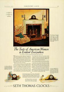 Home Decorating on 1923 Ad Antique Seth Thomas Mantel Clocks Timepiece Home Decor