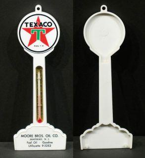 Vintage Texaco Plastic Lolipop Style Sign Thermometer Mahwah NJ