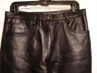 33 Manuel Herrero Black Leather 5 Pocket Pants New