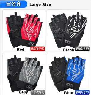 Cycling bike bicycle hunting silicone gel on palm lycra fingerless