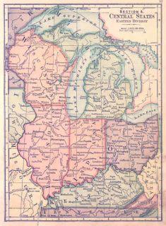 USA 1875* Set of 10 ANTIQUE MAPS. United States Regions Etc. Swinton.