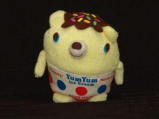Yum Yum Flavor Ice Cream Sparkle Teddy Bear Homemade Mascot Plush