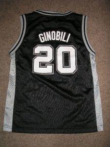Manu Ginobili 20 Spurs NBA Basketball Jersey Toddler LG