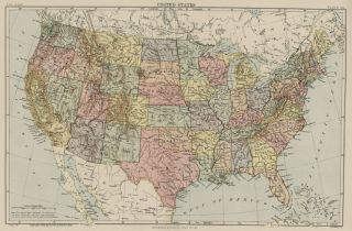 This color map of United States was included in Encylopaedia