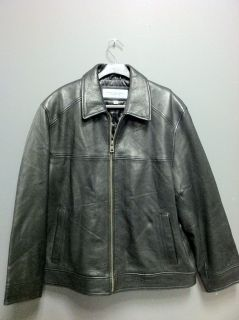 Marc New York by Andrew Marc Mens Leather Jacket Black L XL 100