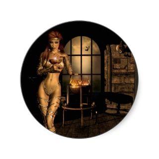 Witchs Revenge fantasy sticker