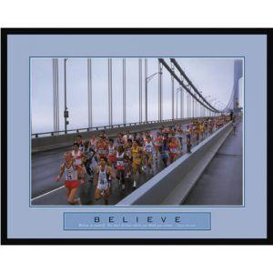 New York City Marathon Framed Motivational Poster