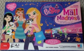 2008 Littlest Pet Shop Mall Madness Electronic Talking Board Game NEW