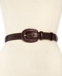 Lauren Ralph Lauren Belt, Reversible Croc Patent Leather   Handbags