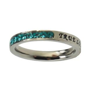 New Girls March Birthstone True Love Waits Purity Ring
