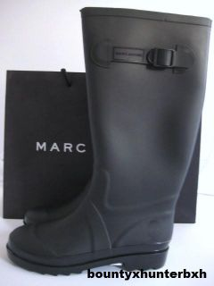 Marc Jacobs Matte Black Rubber Rainboots Rain Boots 10 40 Wellies