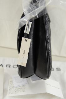 Marc Jacobs Cooper Black Quilted Leather Crossbody Messenger Bag $895