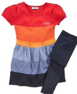 GUESS Kids Set, Little Girl Striped Sweater Dress and Leggings
