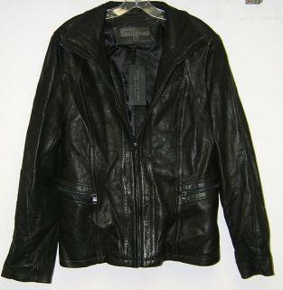 Marc New York Womens Leather Black Jacket