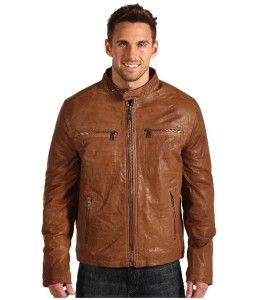 Andrew Marc  Decoy Motorcycle Leather Jacket Size L