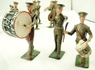Post War Britains 1301 Lead Toy Soldier U s Army Marching Band