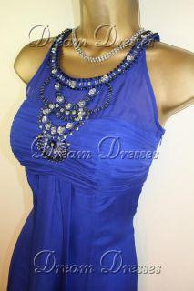 BNWT Monsoon Marcella Blue Silk Dress Shrug Size 8