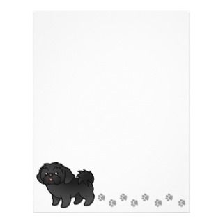 Cartoon Shih Tzu (black puppy cut) Letterhead Design