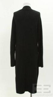 Black Cashmere Long Cardigan Size L
