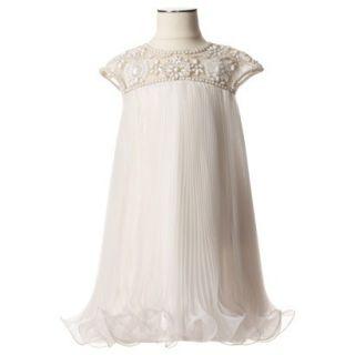 Marchesa for Target  Girls Ivory Beaded Dress