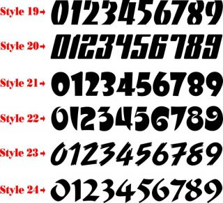 Motorcycle number plate race numbers   graphics decals sticker mx atv