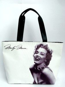 Marilyn Monroe Signature Classic Wide Tote Shoulder White Bag Purse