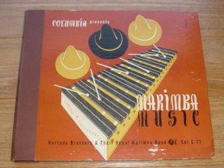 Marimba Music Hurtado Brothers 10 4 LP Vinyl Record Album Columbia
