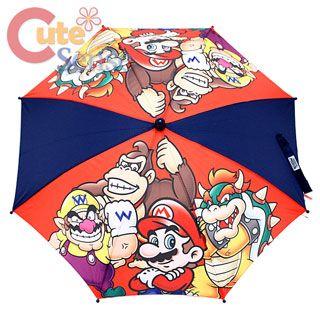 Nintendo Super Mario Wii Group Kids Umbrella Mario Wario Bowser Donkey